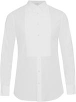 Alexander McQueen Pleated-bib double-cuff dinner shirt