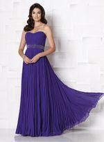 Mon Cheri Cameron Blake by Mon Cheri - 113607 Long Dress In Purple