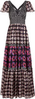 Temperley London Black Silk Floral Print Clarion Dress