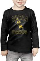 EICUNT Little Boys Girls NCAA Iowa Hawkeyes UI Football Logo Long Sleeve T-Shirts