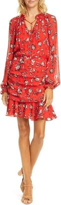 Veronica Beard Alena Floral Print Mini Dress