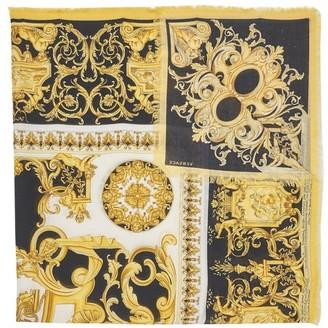 Versace Large Barocco silk scarf