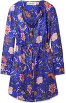 Diane von Furstenberg Printed Silk-twill Mini Dress - Bright blue