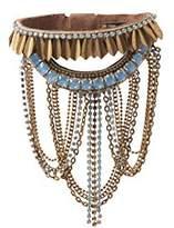 Deepa Gurnani Fashion Jewellery Gold Drop Chain Statement Bracelet