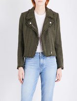 Claudie Pierlot Vendetta tweed biker jacket