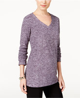 Style&Co. Style & Co. Petite Space-Dyed Sweater, Only at Macy's