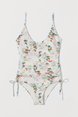 H&M Padded-cup Swimsuit - White
