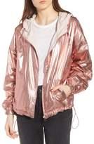KENDALL + KYLIE Metallic Reversible Windbreaker Jacket