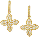 Freida Rothman Pave Crystal Clover Drop Earrings