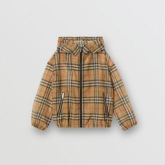 Burberry Childrens Lightweight Vintage Check Hooded Jacket