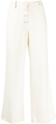 Derek Lam 10 Crosby Ema drape culotte with tuxedo stripe