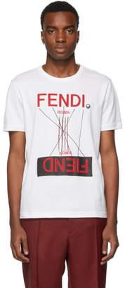 Fendi White Roma Amor Logo T-Shirt