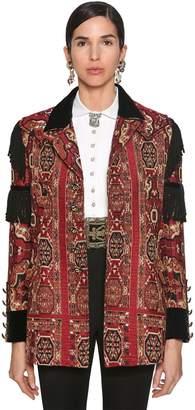 Etro Fringed Jacquard Knit Jacket