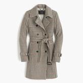 J.Crew Icon trench coat in plaid Italian wool