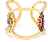 Delfina Delettrez Diamond, ruby, sapphire & yellow-gold ring