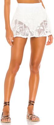 For Love & Lemons Crochet Daisy Skater Skirt
