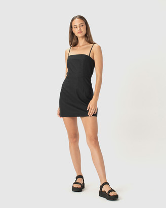 Cools Club - Women's Black Mini Dresses - Fitted Shift Dress - Size One Size, 8 at The Iconic