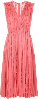 Jason Wu Collection Ruffle Pleat Midi Dress