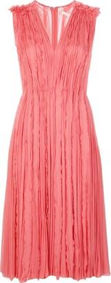 Jason Wu Collection Ruffle Pleat Midi Dress