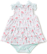Starting Out Baby Girls Newborn-9 Months Flamingo Bodysuit