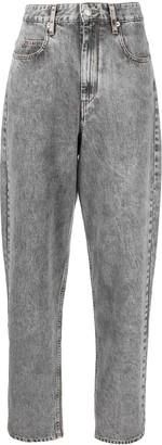 Etoile Isabel Marant High Waisted Wide Leg Jeans
