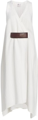 Brunello Cucinelli Belt-Insert Sleeveless Midi Dress