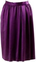 Saint Laurent Purple Synthetic Skirt