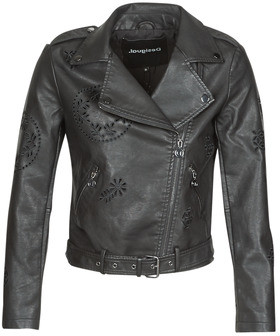 Desigual UTAH women's Leather jacket in Black