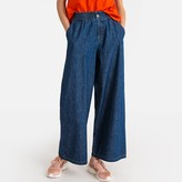 """La Redoute Collections High Waist Wide Leg Cropped Jeans, Length 26"""""""