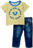 True Religion Stripe Tee Geno Single 2-Piece Set (Baby Boys)
