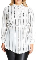 City Chic Plus Size Women's Stripe Tunic