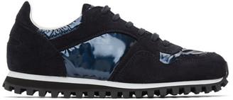 Comme des Garçons Comme des Garçons Navy Spalwart Edition Suede Marathon Sneakers