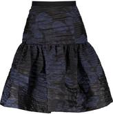 Oscar de la Renta Silk-blend brocade mini skirt