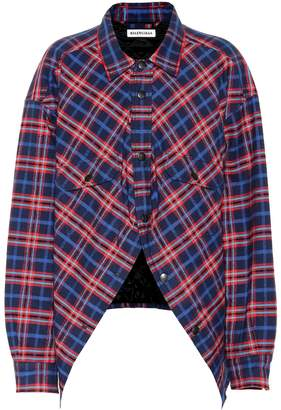 Balenciaga Swing checked cotton shirt