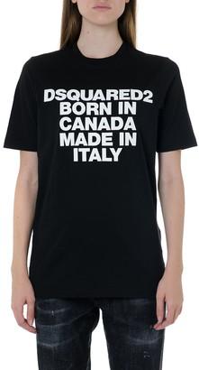 DSQUARED2 Born In Canada Black Cotton T-shirt