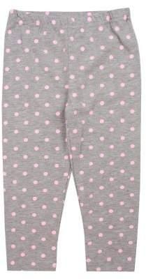 Nannette Baby Girl's Knit Dot Printed Leggings