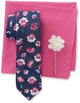 Original Penguin Lennart Floral Tie, Dot Pocket Square, & Solid Lapel Pin Box Set
