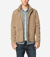 Cole Haan Trucker Packable Rain Jacket