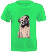 Cha Cha's Chas Hipster Pug Girls Crew Neck Customized Tees