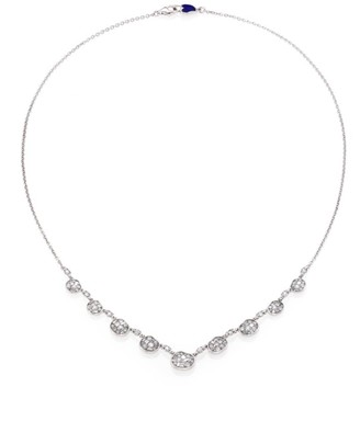 Plevé Ice Diamond & 18K White Gold Mini Pebble Station Necklace