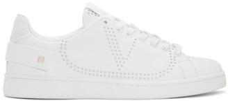 Valentino White Garavani VLogo Rockstud Strap Sneakers