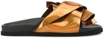 No.21 Twisted Detail Slide Sandals
