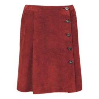 Chanel Red Suede Skirts