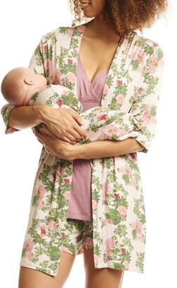 Everly Grey Adalia 5-Piece Maternity/Nursing Pajama Set