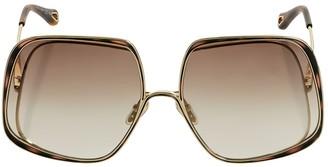 Chloé Hanah Squared Metal Sunglasses