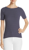 Lilla P Striped Ribbed Tee