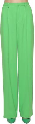 Ralph Lauren Collection Wide Leg Light Wool Crepe Pants