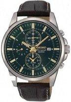 Seiko Men's Sportura SNAF09 Leather Quartz Watch