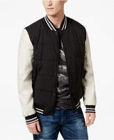 GUESS Men's Varsity Bomber Jacket