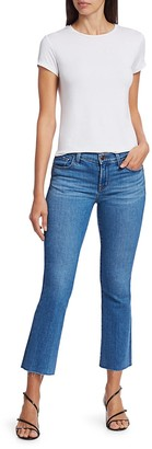 J Brand Selena Mid-Rise Crop Bootcut Jeans